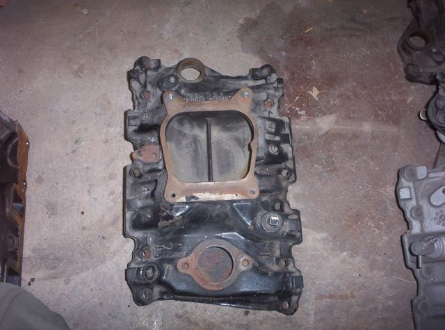 Chevrolet factory cast iron inlet manifold